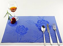 Wärmedämmung Speisetisch Tischsets Pattern Tischsets Waschbare Tischsets 6PCS/Se