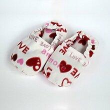 Wärmende Hausschuhe Kirschkernkissen Fußwärmer fußmassagebrause Herzen–Hergestellt in Emilia Romagna