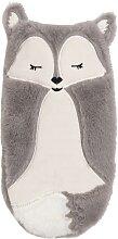 Wärmflasche Fuchs aus grauem Stoff