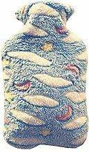 Wärmflasche Mit Bezug,Weichem Strickbezug,1000ml