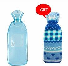 Wärmflasche mit Naturkautschuk 500 ML 1000 ML 2