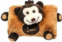 Wärmflasche mit Plüschtier Affe aus weichem