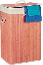 Wäschebehälter aus Bambus BohoLiving Farbe: Rosa