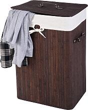 Wäschebox 72 L Bambus Wäschekorb Wäschetruhe