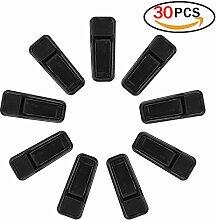 Wäscheklammern 30 Stück aus Kunststoff Slim Line Rutschfest Finger Kleiderbügel Hosenbügel Clips Schwarz