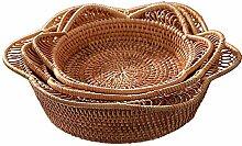 Wäschekorb Hand-Woven-Speicher-Korb Tischplatte