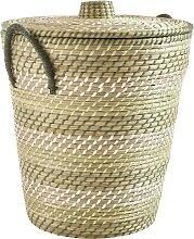 Wäschekorb Seagrass aus Seegras H/Ø ca. 50/45 cm
