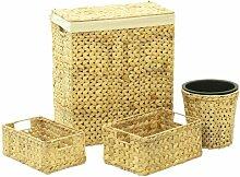 Wäschekorb und Abfalleimer-Set Sansibar Home