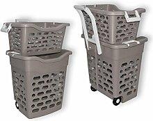 Wäschekorb Wäschesammler Wäschebox Plastik