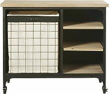 Wäschemöbel im Industrie-Stil aus Tannenholz und