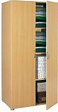 Wäscheschrank 2 Türen buche beige B 82 cm Schrank Drehtürenschrank Kleiderschrank Holzschrank Kinderzimmer Jugendzimmer Schlafzimmer