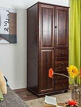 Wäscheschrank mit 4 Schubladen, Farbe: Nuss 190x80x60 cm