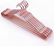 Wäschetrockner Haushalt metallaufhänger Aluminium Kleiderbügel Kleiderbügel Edelstahl Kleiderbügel, 20, Rose Gold