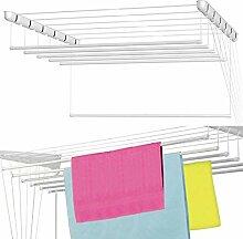 Wäschetrockner, Weiß, 6 x 228,6 cm, Umlenkrolle