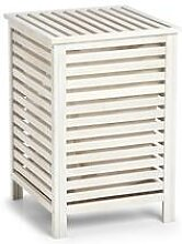 Wäschetruhe, Holz, natur/weiß 45x45x65,5