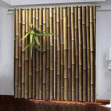 WAFJJ Verdunkelungsvorhang Bambus Blickdichte