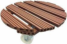 WAGNER Pflanzenroller WPC - Wood Plastic Composites, witterungsbeständig, terracotta, Durchmesser 38,5 x 11,2 cm, Tragkraft 100 kg - 20055501
