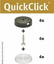 "WAGNER QuickClick® Stuhlgleiter // 4er-Set zum Anschrauben // ""STOPP"" - Durchmesser 25 mm  - 15804200"