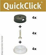 "Wagner QuickClick Stuhlgleiter // 4er-Set zum Anschrauben // ""STOPP"" (Ø 20mm)"