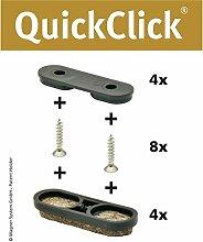 WAGNER QuickClick® TANDEM Stuhlgleiter // 4er-Set
