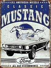 WAHAH Classic Mustang Blechschild Metall Neuheit