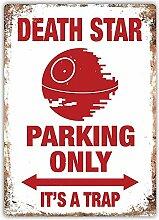 WAHAH Deathstar Parking Only Blechschild Metall