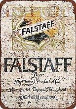 WAHAH Falstaff Beer Blechschild Metall Neuheit