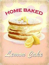 WAHAH Home Baked Lemon Cake Blechschild Metall