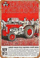 WAHAH Massey Ferguson Blechschild Metall Neuheit