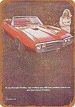 WAHAH Pontiac Firebird 400 Blechschild Metall