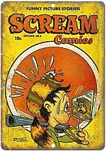WAHAH Scream Comics Blechschild Metall Neuheit