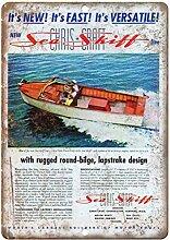 WAHAH Sea Shift Boating Blechschild Metall Neuheit