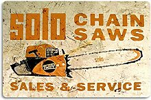 WAHAH Solo Chain Saws Blechschild Metall Neuheit