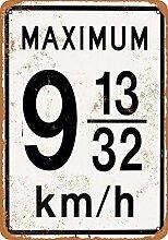 WAHAH Speed Limit Maximum Blechschild Metall