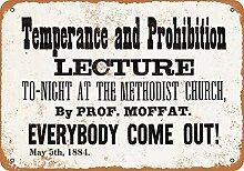 WAHAH Temperance and Prohibition Blechschild