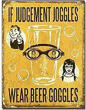 WAHAH Wear Beer Goggles Blechschild Metall Neuheit