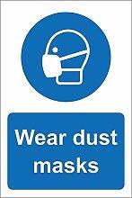 WAHAH Wear Dust Masks Blechschild Metall Neuheit