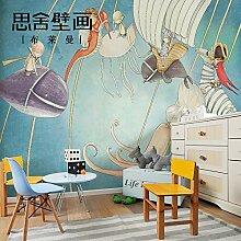 WAHAZC Große Wandbilder Seide Tapete 3D Art Deco
