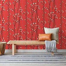 WAHAZC Tapete Hintergrundbild Vintage Blumentapete