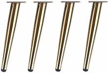 WaiMin 4er Pack Couchtisch Fuß Gold Möbel Füße