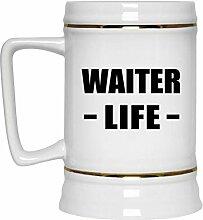 Waiter Life - Beer Stein Bierkrug Keramik