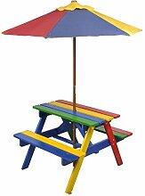 Wakects Garten Spielhaus Picknickset Sitzgruppe