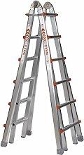 WAKÜ Teleskopleiter 1,85 m - 6,40 m,