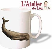 Wal keramisch Kaffeetasse Mug Kaffeebecher - Originelle Geschenkidee - Spülmaschinefest - Natural History Whale Mug