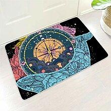 Wal Kompass Illustration Blume 3D Print Fußmatte