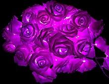 Walant 30er LED Rosen Lichterkette,weich Stoff