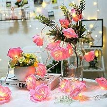 Walant 40er LED Rosen Lichterkette,weich Stoff