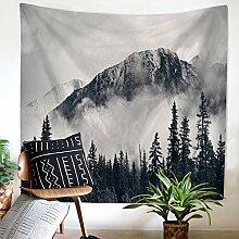 Wald Berge Wolke Wandteppich Wandbehang Natur