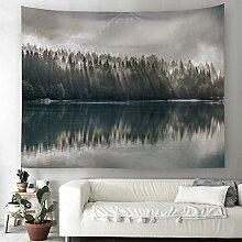Wald Dschungel Nebel Wandteppich Natur Landschaft
