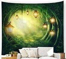 Wald Dschungel Sonne Wandteppich Fantasy Natur